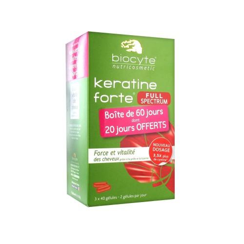 Биоцит Пищевая добавка для здоровья волос Biocyte Keratine Forte Full Spectrum 3 x 40 капсул